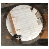 28in Charcoal Clear Edge Round Mirror
