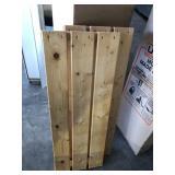 "(8) Wood Shelves  (31.5""x 11.25"")"