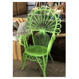 Lime Windsor Hoop Wicker Patio Chair