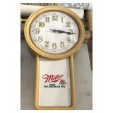 """""""Made The American Way""""- Miller Wall Clock"""