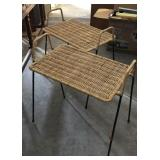 (2) Wicker Plant Stands