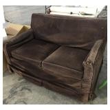 Espresso Brown Corduroy Couch