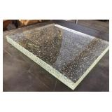 2in Thick Clear Tempered Glass Cutting Board