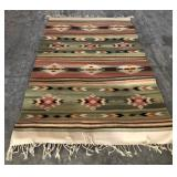 48in x 78in Southwest Throw Rug (Rubber Backing)