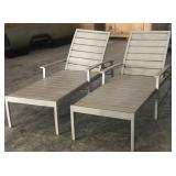 (2) Charleston Chaise Lounge Chairs (Bolt Missing)