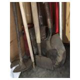 Hand Tools With Shovel, Post Hole Digger, Trimmer