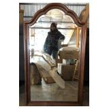 4ft Arched Wood Frame Wall Mirror