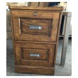Oak File Cabinet With Key