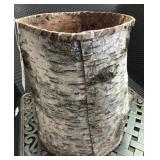 """13in Tall Bark Basket- """"Trash Can Cover"""""""