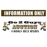 Go 2 Guys Auction Information