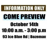 Come Preview! | October 14th 10:00 a.m. - 3:00 p.m