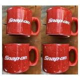Set of 4- Snap-On Ceramic Mug 14oz Liquid Logic