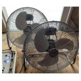 Two Bahamas Breeze Floor Fans Adjustable Angle
