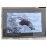 Framed (41in x 29in) R.S. Parker Eagle Print