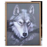 Indigo Dave Merrick Wolf Print (39in x 30in)