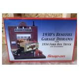 Snap-On 1930s Benefiel Garage Diorama In Box