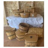 (9pc Set) Longaberger Series Basket Collection