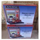 (2) Snap-on Modern Garage Diorama W/ Ford F-150