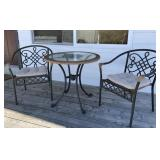 Glass Top Patio Table & Chairs