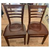 Pair of Wood Dinning Chairs