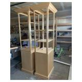 7ft Wood Display Shelves With Storage