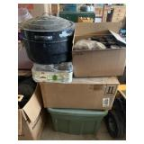 Boxes & Totes Full of Glass Canning Jars & Bottles