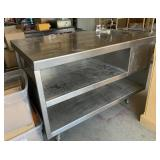 Commercial Stainless Steel Prep Table & Sink