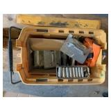 Tool Box Full of Door Deckers & Socket Set,