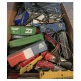 Box Full of Model Trains & Track: HO Scale ETC...