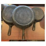 Three Cast Iron Pans (Two Are Griswold)