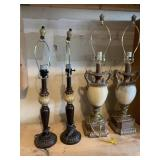 Four Shabby Chic Table Lamps
