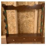 Rifle Wood Wall Rack (Locking With Keys)