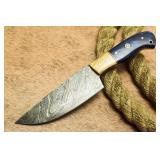 Custom Damascus Hunting Chef Knife Hard Wood