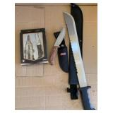 Machete, Coleman Knife, & Gerber Set