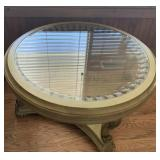 40in Glass Top Side Table