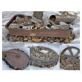 Rustic Farm Equipment Yard Art