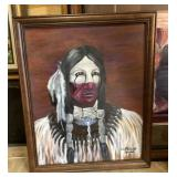 Native American Portrait ORIGINAL 20x16 Acrylic
