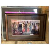Western Cowboy Boots Print (Frame Repair Needed)