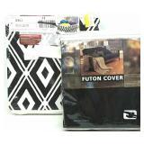 Full Futon Cover & 2 Fabric Storage Cubes