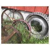 (4) Antique Water Wheels