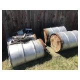 4 Galvanized Barrels