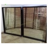 Pair of Large Black Framed Mirrors