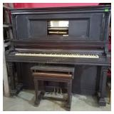 Lauter-Humana Player Piano & Bench As Is