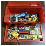 Plastic Tool Box w/Contents- Batteries and Fuses