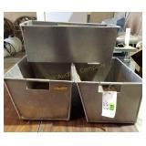 (3) Stainless Steel Containers