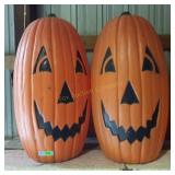Blow Mold (2) Large Pumpkins - Double Faced