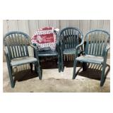 (4) Plastic Lawn Chairs