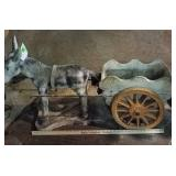 Concrete Donkey and Cart Planter