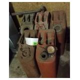 (5) Jerry Style Gas Cans