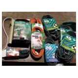 Misc Size New/Old Exten Cords,Power Strips& Stakes